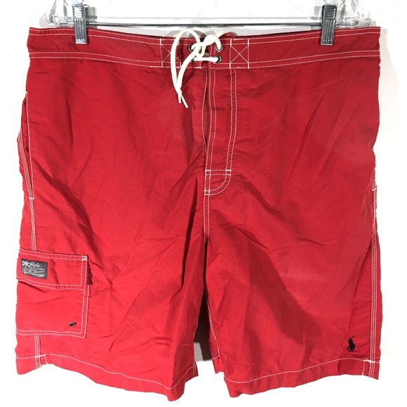 d0f16755947 ... best price polo ralph lauren red board shorts swim trunks xl 36a89 289af